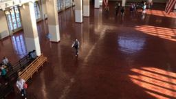1006188 IMG 0820 Ellis Island Immigration Museum Interior ED stock footage