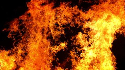 Flames of a bonfire Live Action