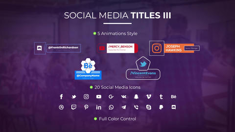 Social Media Titles III Motion Graphics Template
