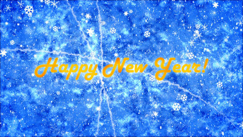 Background with New Year Greetings Animation