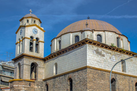 St. Nicholas Church between Old and New Towns of Kavala Photo