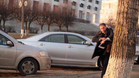 businessman rushing, running GIF