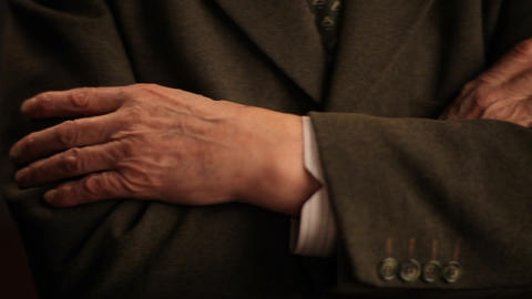close up of elderly male hands Footage