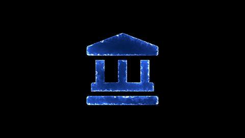 Symbol landmark. Blue Electric Glow Storm. looped video. Alpha channel black CG動画