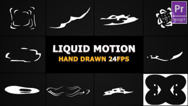 Abstract Liquid Elements Motion Graphics Template