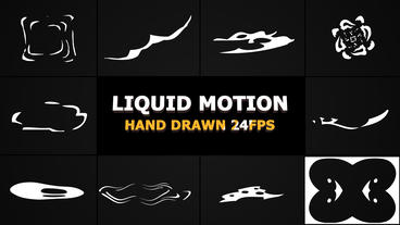 Abstract Liquid Elements After Effects Template