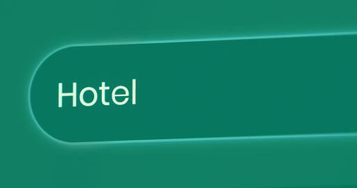 Word Hotel Written In Search Bar Live Action