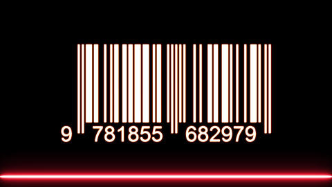 Barcode With Laser Ray Passing Over Stock Video Footage