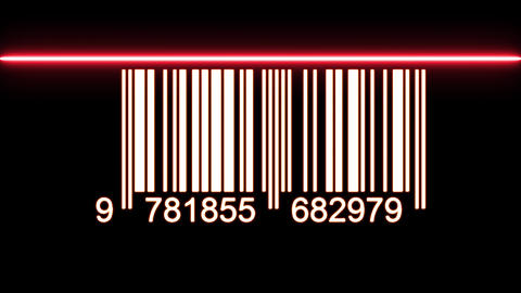 Barcode With Laser Ray Passing Over Animation