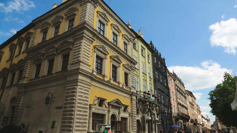 LVIV, UKRAINE - CIRCA JULY 2017: Sightseeing in the city. Historical museum Live Action