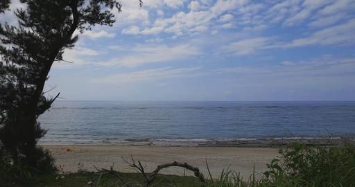 Blue ocean at Amami-Oshima wide shot Footage