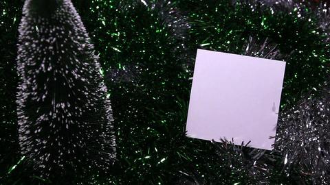 White Paper On Dark Green Background Footage
