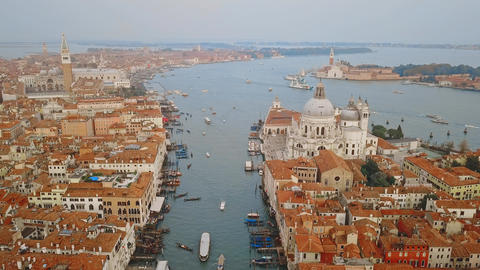 Aerial view of Venice Italy Footage