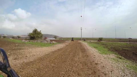 ATV ride on muddy dirt off road GIF