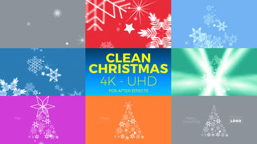 Clean Christmas 4K - UHD After Effects Template