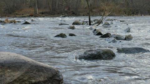 panorama rapid river Footage