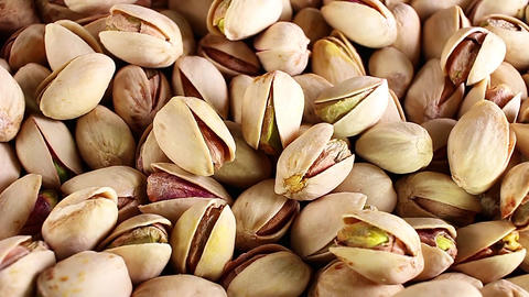 Pistachio, pistachios texture pattern rotate rotating plate Footage