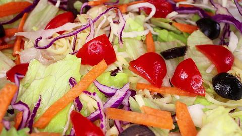 Raw healthy food salad vitamin C B D E A antiviral foods weight loss diet Footage