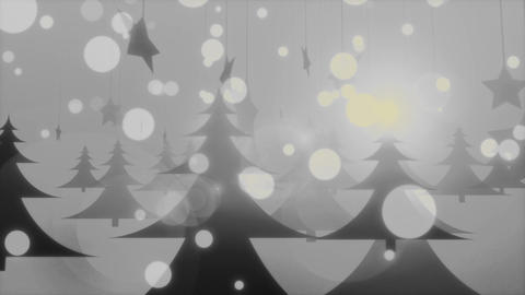 Foggy Christmas - Cold Mysterious Winter Video Background Loop Animation