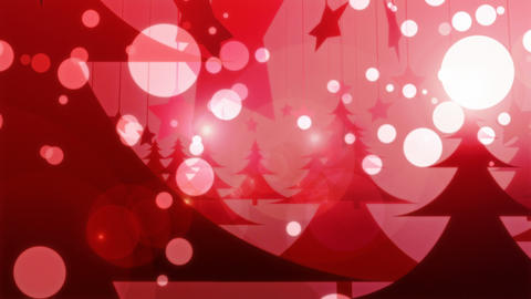 Red Christmas - 4k 4k Glamorous Winter Video Background Loop Animation