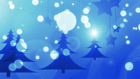 Blue Christmas - 4k Stylish Christmas Video Background Loop Animation