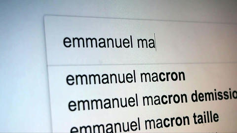 Searching Emmanuel Macron on Internet Live Action