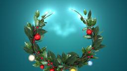 christmas wreath 2 _ blue background Animation