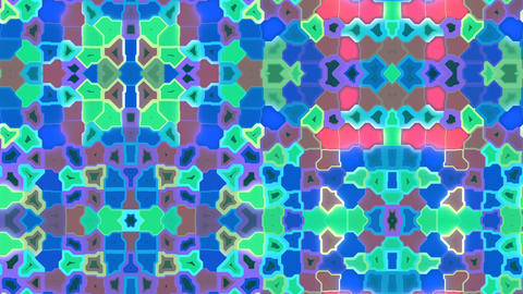 Techno Carpet - Kaleidoscopic Multicolor Madness Video Background Loop Animation