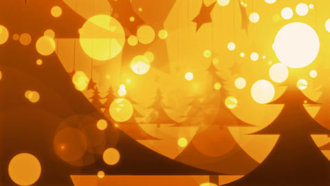 Golden Christmas - 4k Snow And Celebration Video Background Loop Animation