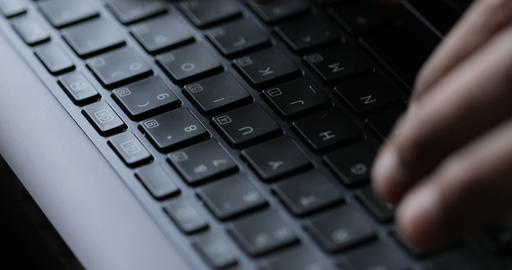 Closeup of Typing on Keyboard Footage