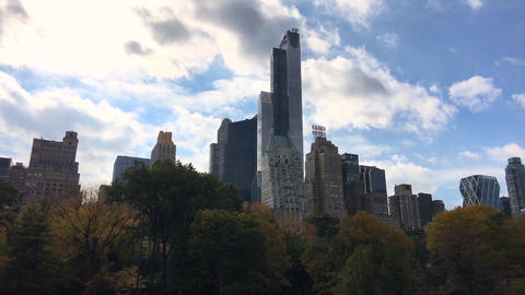 NEW YORK CITY – CIRCA OCTOBER, 2015: Central Park in autumn, time lapse. This  Footage