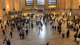 NEW YORK CITY – CIRCA OCTOBER, 2015: Grand Central Terminal interior, time lap Footage