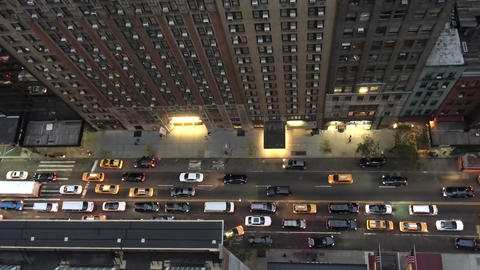 NEW YORK CITY - CIRCA OCTOBER, 2015: Manhattan traffic in New York City as seen  Live Action