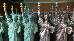 NEW YORK CITY - CIRCA OCTOBER, 2015: Statue of Liberty souvenirs. Statue of Libe Footage