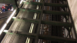 NEW YORK CITY – CIRCA OCTOBER, 2015: Interior of subway station. The system ha Footage