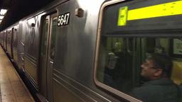 NEW YORK CITY – CIRCA OCTOBER, 2015: Interior of subway station. The system ha Footage