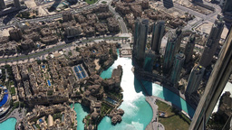 Dubai Downtown Aerial View Footage