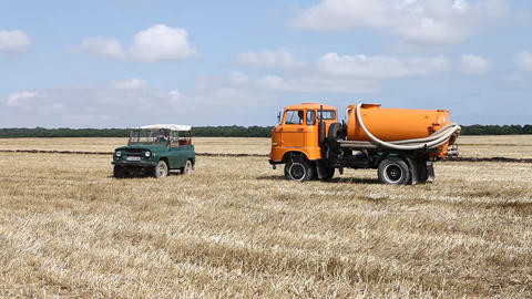 Vehicle in a Fields Footage