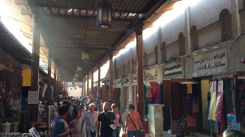 DUBAI - NOVEMBER 22, 2015: Dubai Souk on a beautful day. The city attracts 14 mi Footage