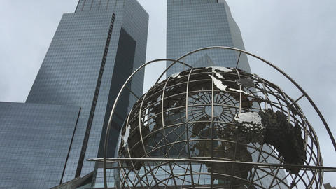 NEW YORK CITY – OCTOBER 2015: Columbus Circle buildings. New York attracts 50  Footage