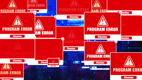 Program Error Alert Warning Error Pop-up Notification Box On Screen Live Action