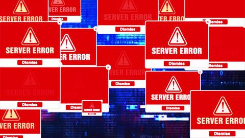 Server Error Alert Warning Error Pop-up Notification Box On Screen Live Action