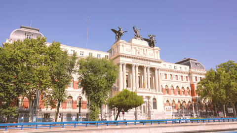 MADRID, SPAIN - SEPTEMBER 30, 2018. View of the Spanish Ministry of Agriculture Live Action