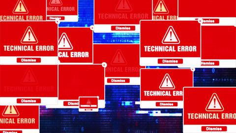 Technical Error Alert Warning Error Pop-up Notification Box On Screen Live Action