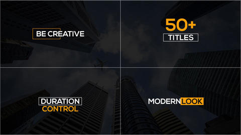 50+ Minimal Elegant Title Animation Pack After Effects Template