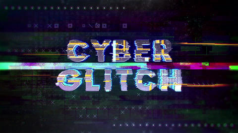 Cyber Glitch Logo After Effectsテンプレート