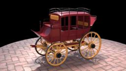 Horse Drawn Carriage 3Dモデル
