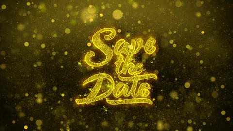 Save the Date Wishes Greetings card, Invitation, Celebration Firework 1 Live Action