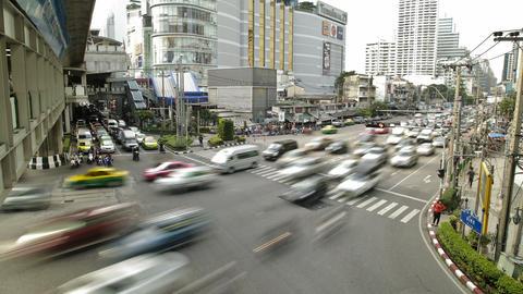 Traffic Jam in Busy Bangkok City Timelapse Footage