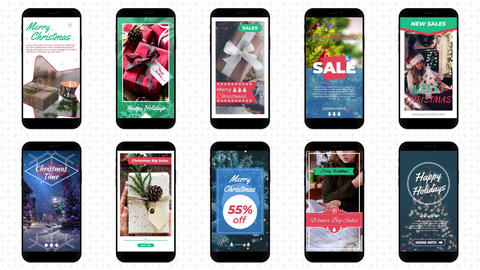 Christmas Instagram Stories After Effects Template